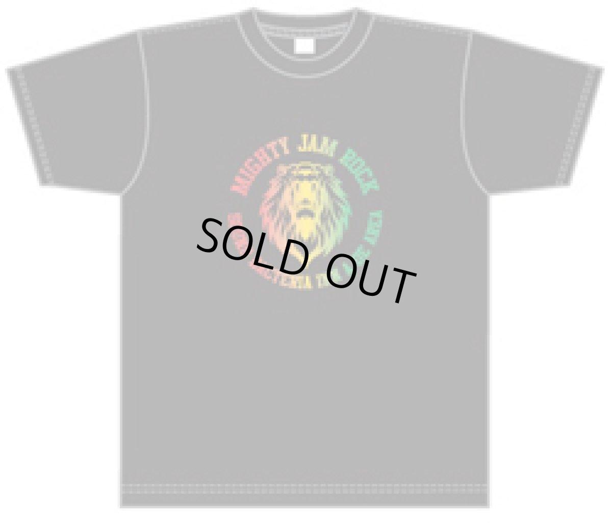 画像1: MJR LION LOGO T-shirts 【BLACK/RASTA】 (1)